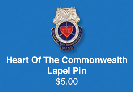 Teamsters Local 170   Heart Of The Commonwealth Lapel Pin